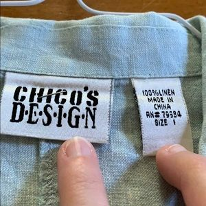 Chico's Design Long Sleeve Button Down Shirt